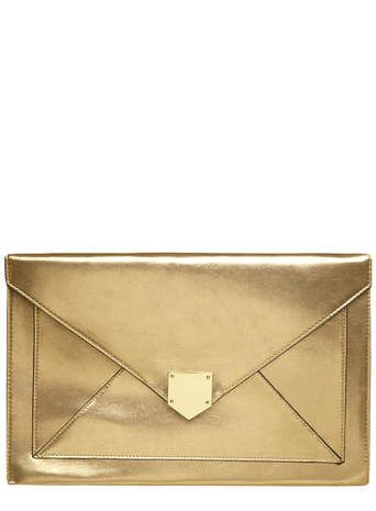 221dff4cda1 Gold large envelope clutch bag | Bag Lady | Envelope clutch, Bags ...