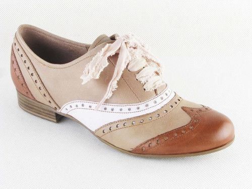 Ladies Marco Tozzi Brown Leather Brogue Shoes Womens Classic Brogues Size 3 8 | eBay