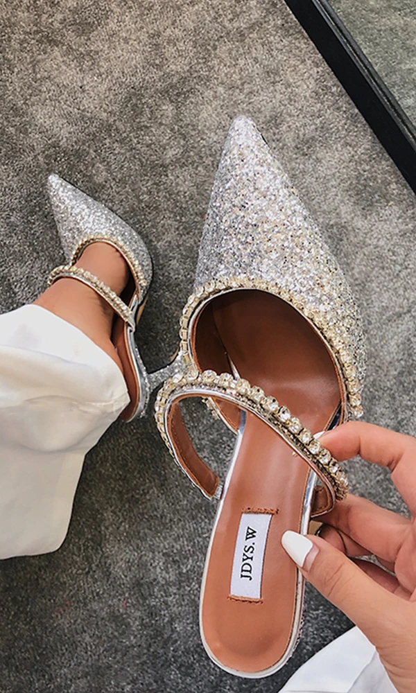Sparkly High Heels Women Shoes Sandals HZS0139 nel 2020