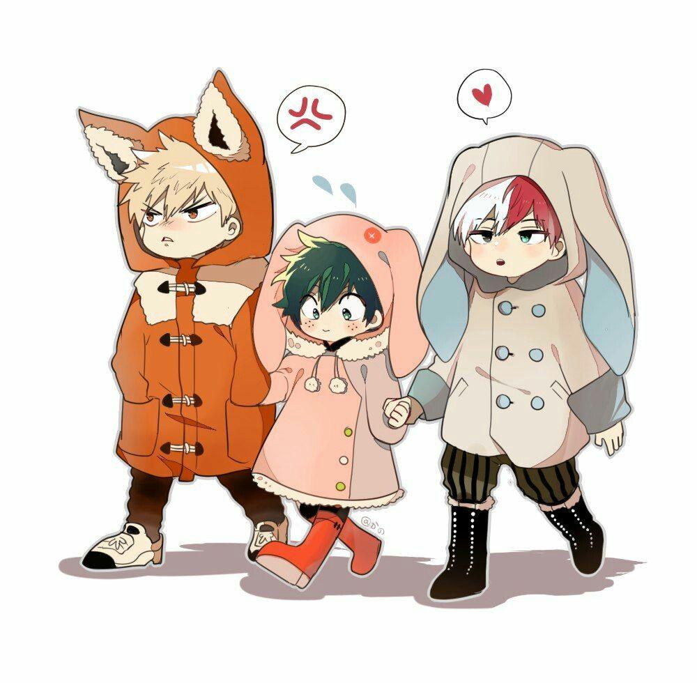 Izuku Shoto And Katsuki My Hero Academia Kids Hero Chibi My Hero Academia Episodes