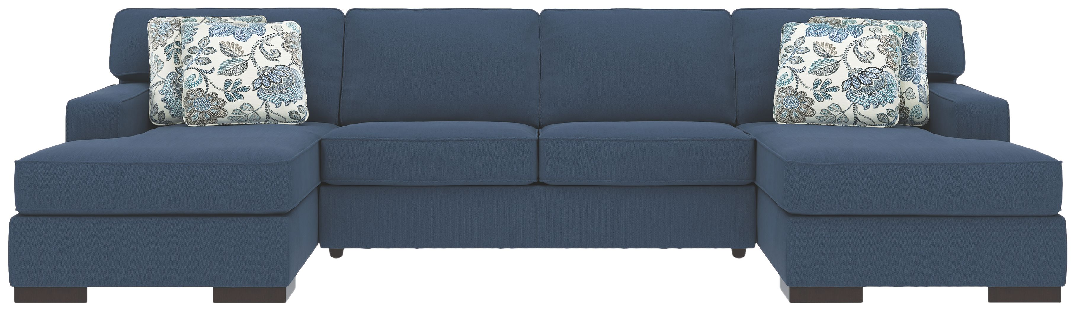 Fabulous Ashlor Nuvella 3 Piece Sectional And Pillows Indigo Ocoug Best Dining Table And Chair Ideas Images Ocougorg