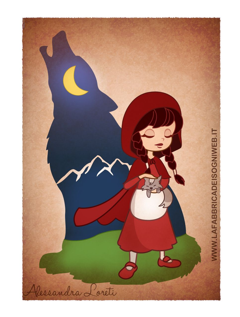 Red Riding Hood and her wolf by fabbrica-dei-sogni.deviantart.com on @deviantART