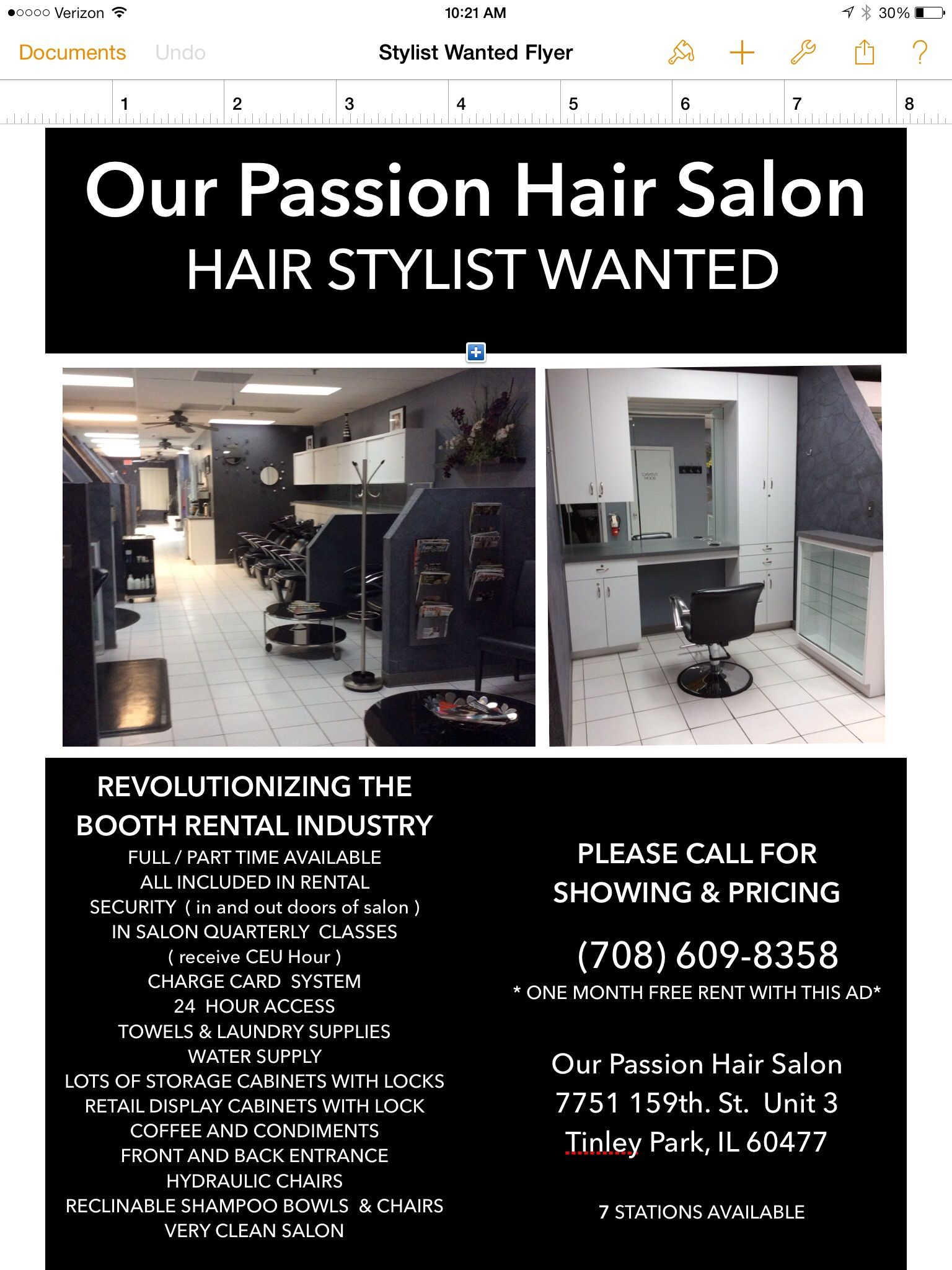 Upscale Hair Salon: Salon Booth Rental Available (San Diego