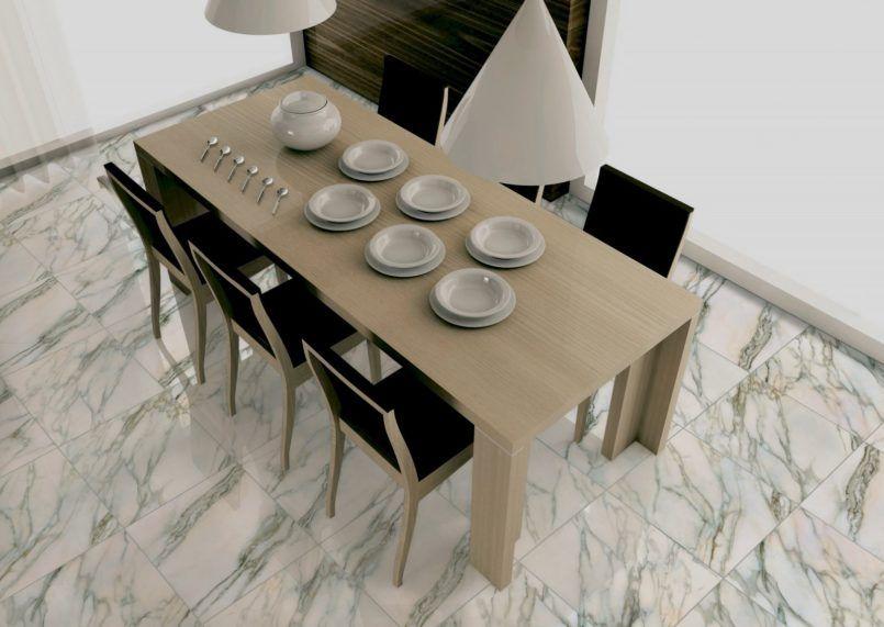 Interior, Modern Calacatta Marble Floor Tile For Dining Room ...