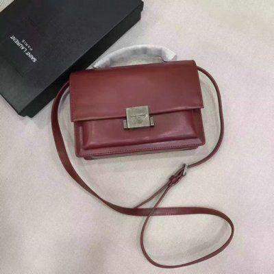 e22bf6c019 2017 New Saint Laurent Medium Bellechasse Bag in Dark Red Leather ...