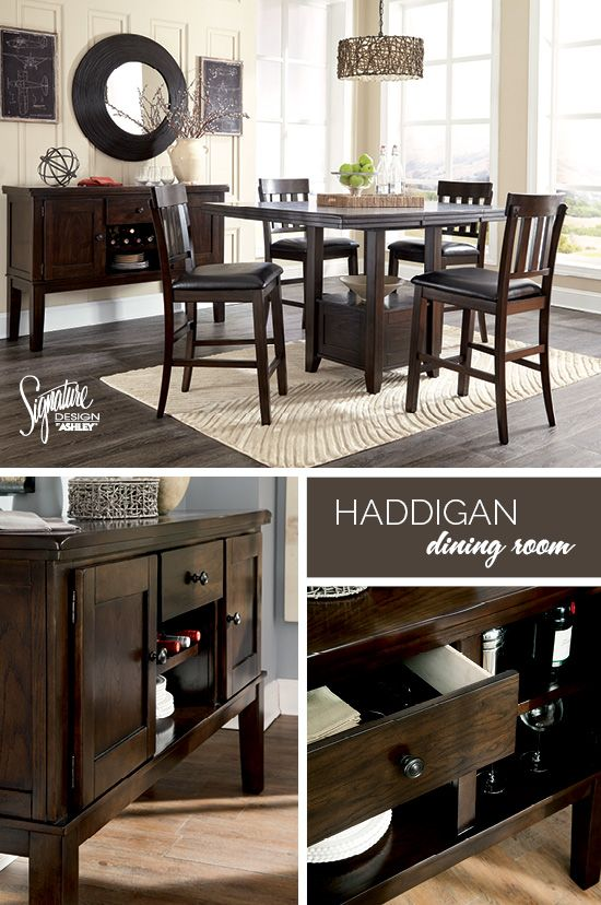 Being The Hostess With The Mostess Is So Easy With The Haddigan Dining Room Set Made With Pre Dining Room Suites Ashley Furniture Counter Height Dining Sets