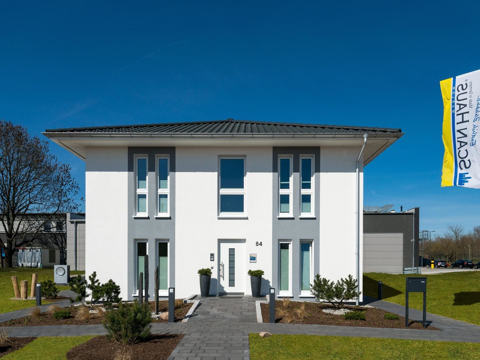 fertighaus mit zeltdach musterhaus sh 155 s variante b scanhaus marlow weitere ansichten. Black Bedroom Furniture Sets. Home Design Ideas