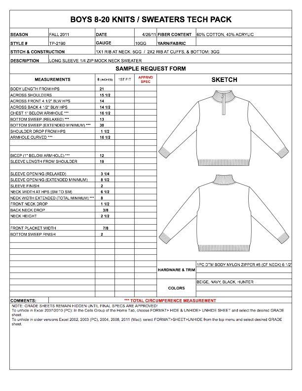 Designers Nexus How To Spec A Garment Ebook Amp Apparel Techpacks Goodies Fashi Tech Pack Template Specification Sheet Fashion Design Fashion Tech Pack
