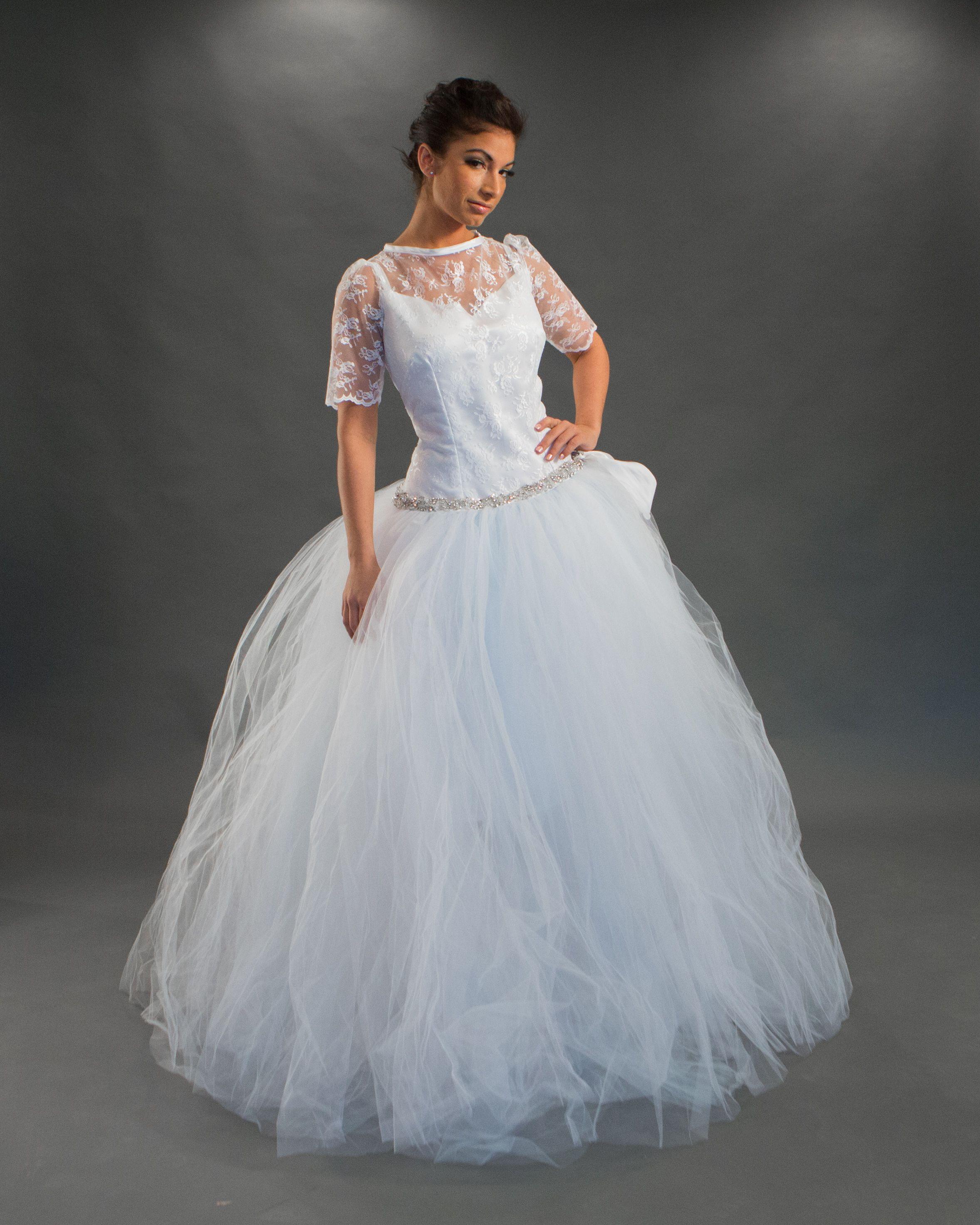 detachable wedding skirt overlay