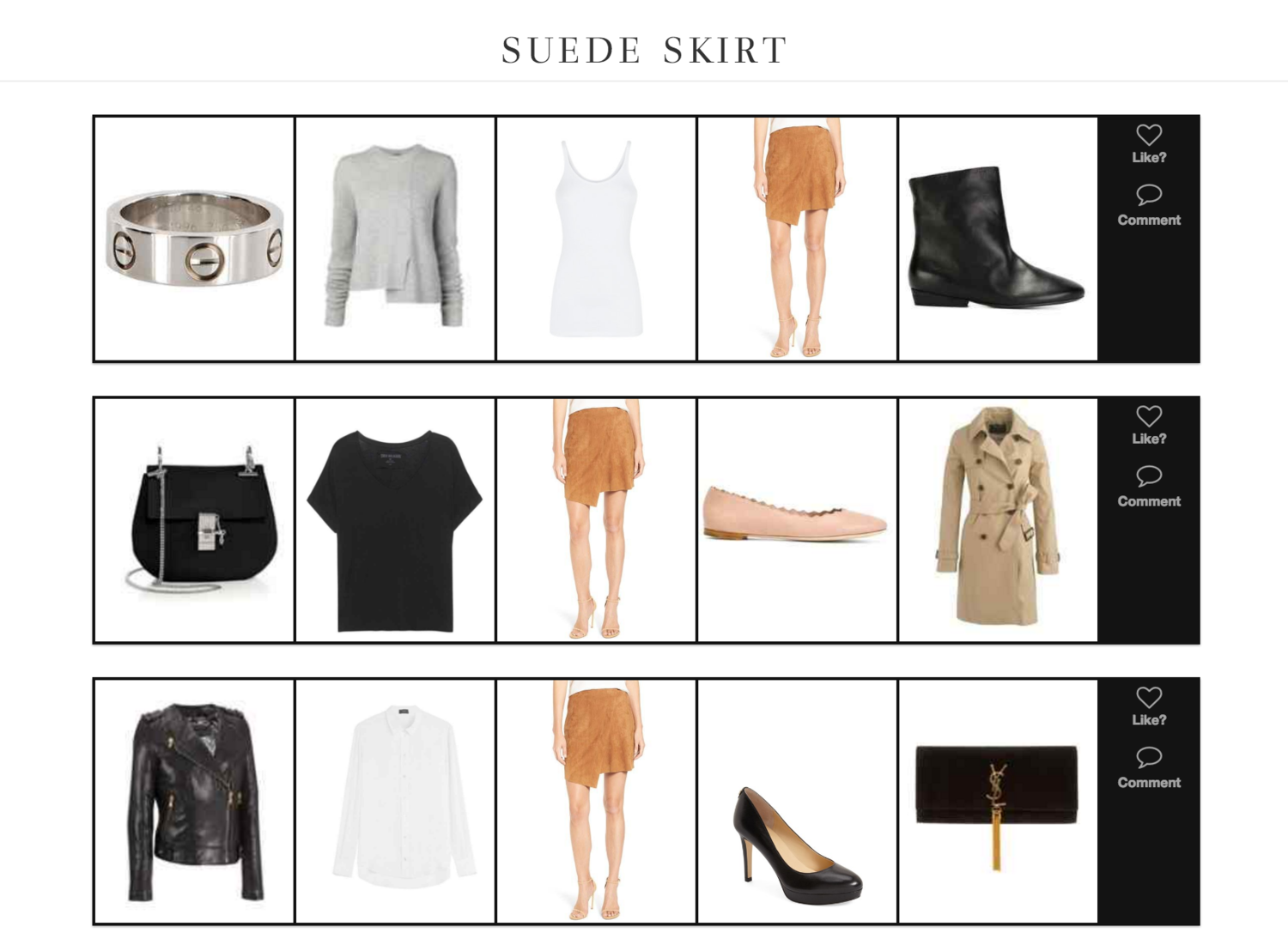 Three Ways to Style a Suede SKirt