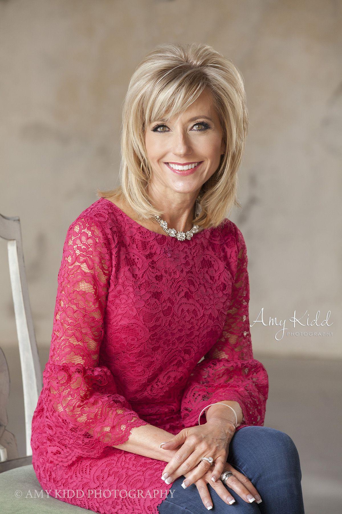 Amy Kidd Photography Ms. Beth Moore Medium hair styles