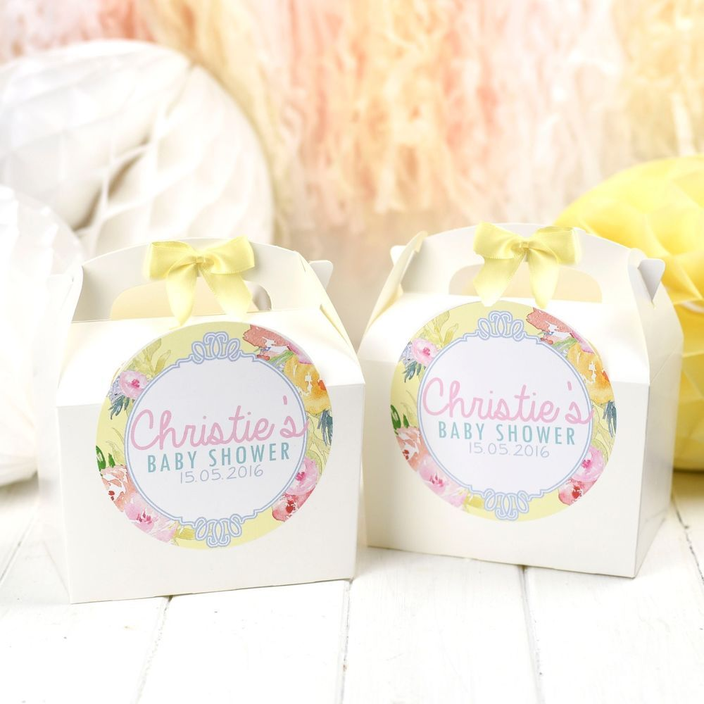 Details about personalised gift box favour spring time