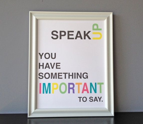 multi color speak up something important by tipsymouse on etsy, $20.00