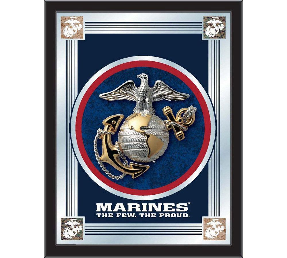 Usmc logo wall mirror usmc and products start tab description the united states marine corps logo mirror displays the military symbols with a style that fits any setting buycottarizona