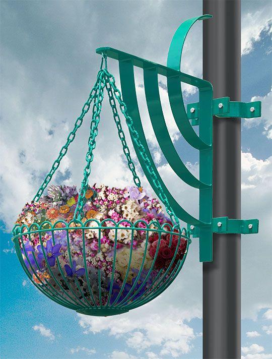 Hanging Planter Basket With Bracket 3 16 Diameter