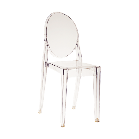 Chaise Victoria Ghost transparente by Philippe Starck - Kartell ...