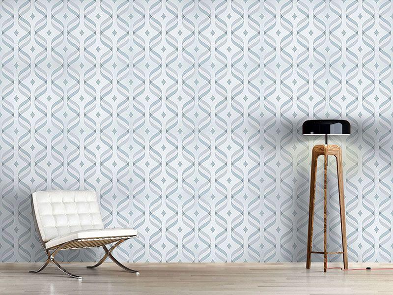Design #Tapete Wellen Und Karo