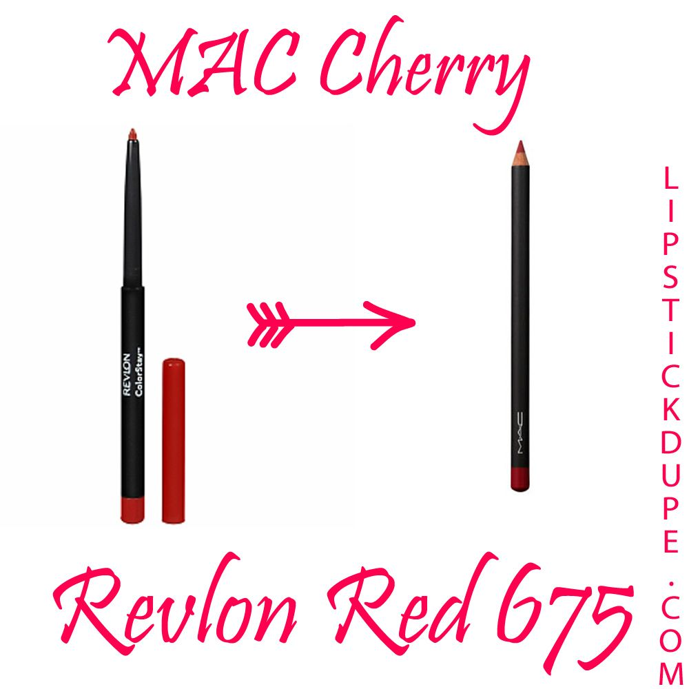 MAC Cherry dupe Revlon Red 675 Lip Liner 8 Loveable Lip ...