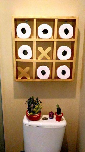 porta papel higiênico jogo da velha (1)   MADEIRA   Pinterest ...