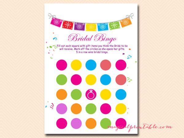 Fiesta Bridal Shower Games Package, Luau Bridal Shower Games, Bachelorette, Wedding Shower Games , bingo-blank