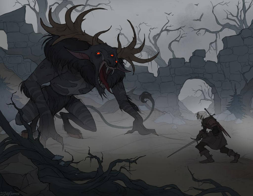Morvudd Hunt By Irenhorrors On Deviantart Witcher Monsters Witcher Art The Witcher