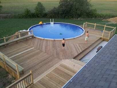 Pin By Jill Barger On Pool Stuff Above Ground Pool Decks