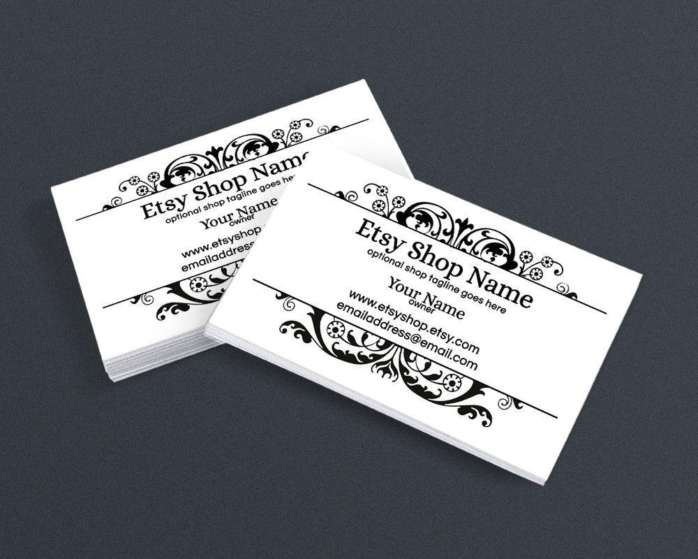 Wedding Planner Business Card Design - Filigree Business Card Design ...