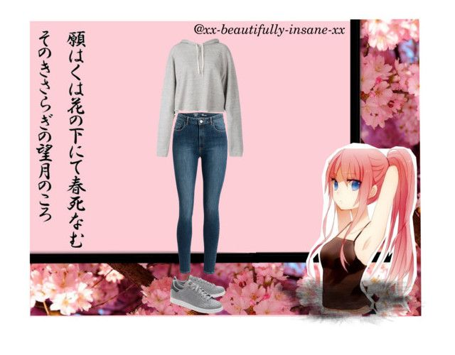 """""""@xx-beautifully-insane-xx as a anime character!"""" by stop-being-kawaii ❤ liked on Polyvore featuring Faith Connexion and adidas Originals"""