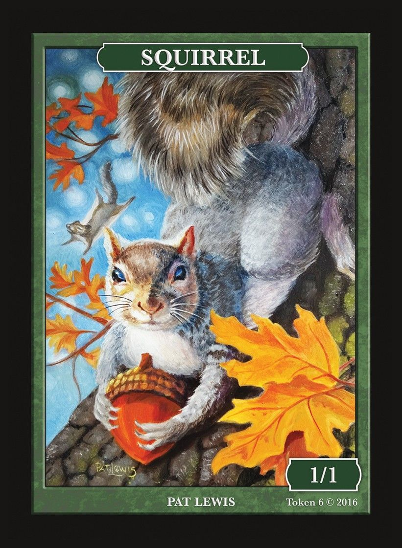 3x Squirrel #2 Custom Altered Tokens MTG