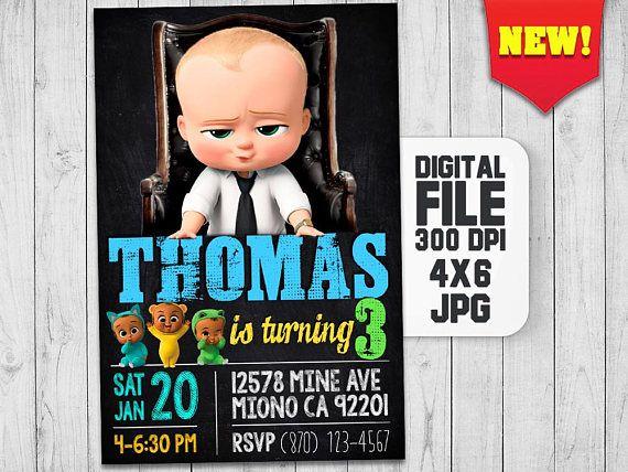 The Boss Baby Invitation Boss Baby Birthday Boss Baby Party Boss