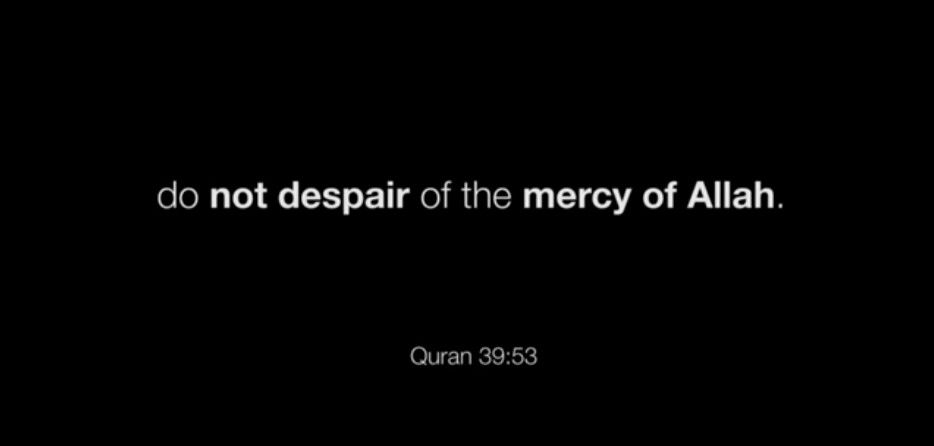 Do not despair of the mercy of allah Quran 39:53