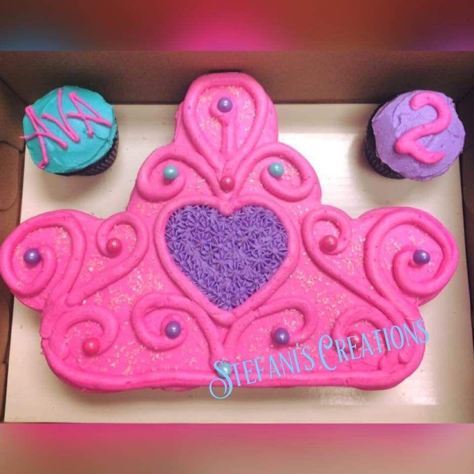 Fine Pull Apart Princess Crown Cake Cupcakes But Looks Like A Cake Funny Birthday Cards Online Inifodamsfinfo