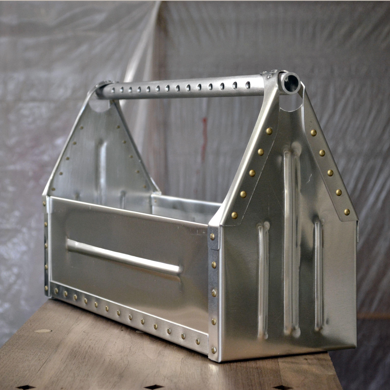 Aluminum Sheet Metal Toolbox Aircraft Rivets Cross Drilled Handle Bead Rolled Panels A Fun Sheet Metal Fabrication Sheet Metal Crafts Aluminum Sheet Metal