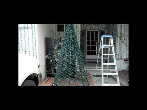 Youtube Christmas Decorations Diy Outdoor Spiral Christmas Tree Outdoor Christmas Tree