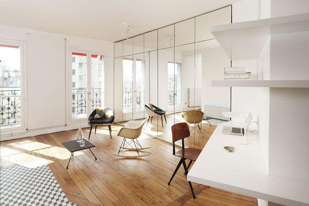 Il Soggiorno Dellu0027appartamento Di Parigi Ristrutturato Da CUT Architectures