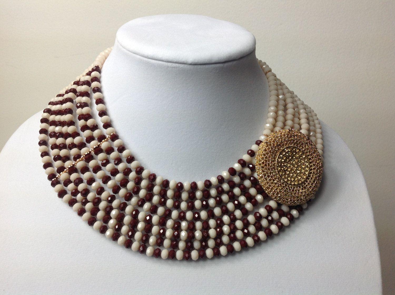 Bold & Beautiful Crystal Bead Necklace Set, Nigerian Wedding Beads ...