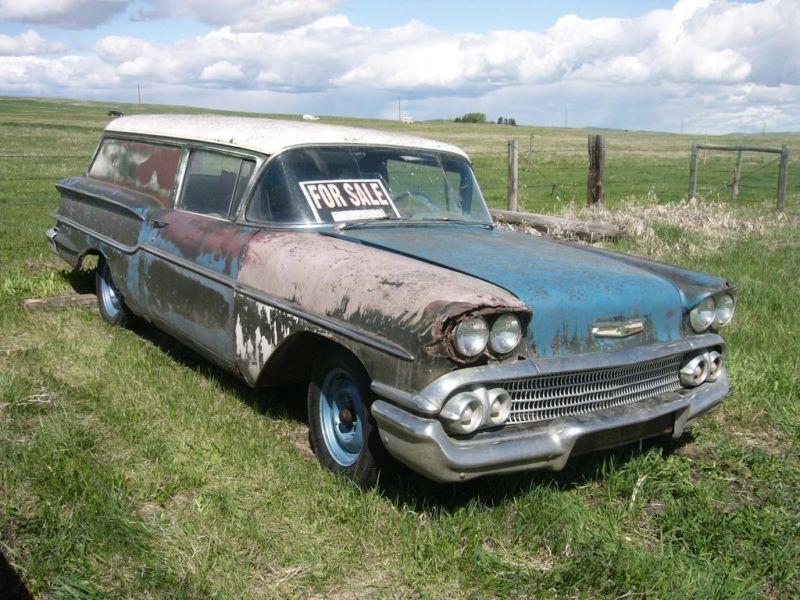 1958 Chevy Sedan Delivery Junkyard Cars Chevrolet Sedan Chevrolet