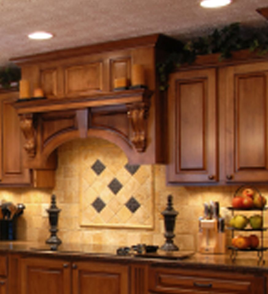 Mantle Kitchen Alcove Over Stove Top Or Counter Is Ideal Kitchen Tiles Backsplash Kitchen Ideals Tile Backsplashes