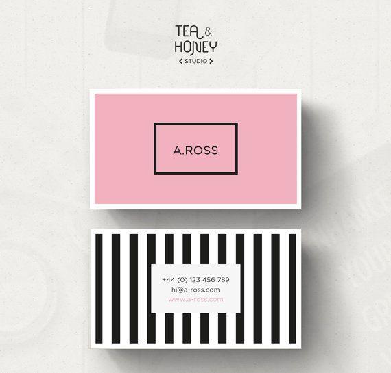 Feminine Business Card Stripes Business Card Modern Design Etsy Modern Business Cards Business Card Pattern Modern Business Cards Design