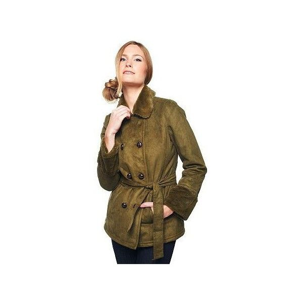 094c7ecc64ad Isaac Mizrahi Live! Double Breasted Faux Fur Trench Jacket (£75 ...