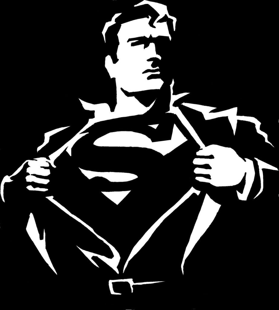 Nice superman iconography here in black and white