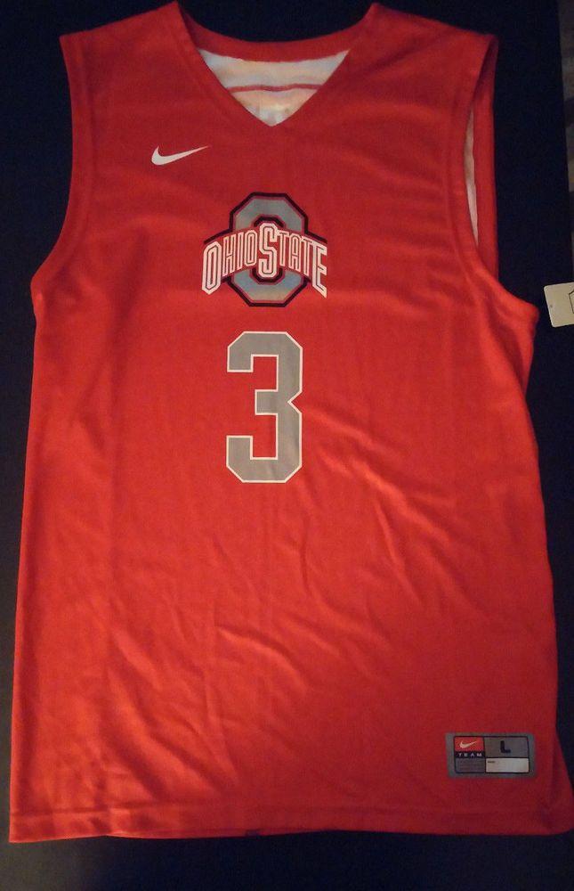 NWT  OHIO  STATE BUCKEYES  3 Sz L NIKE  Authentic  Jersey  NCAA Basketball   Nike  OhioStateBuckeyes 8005354a9