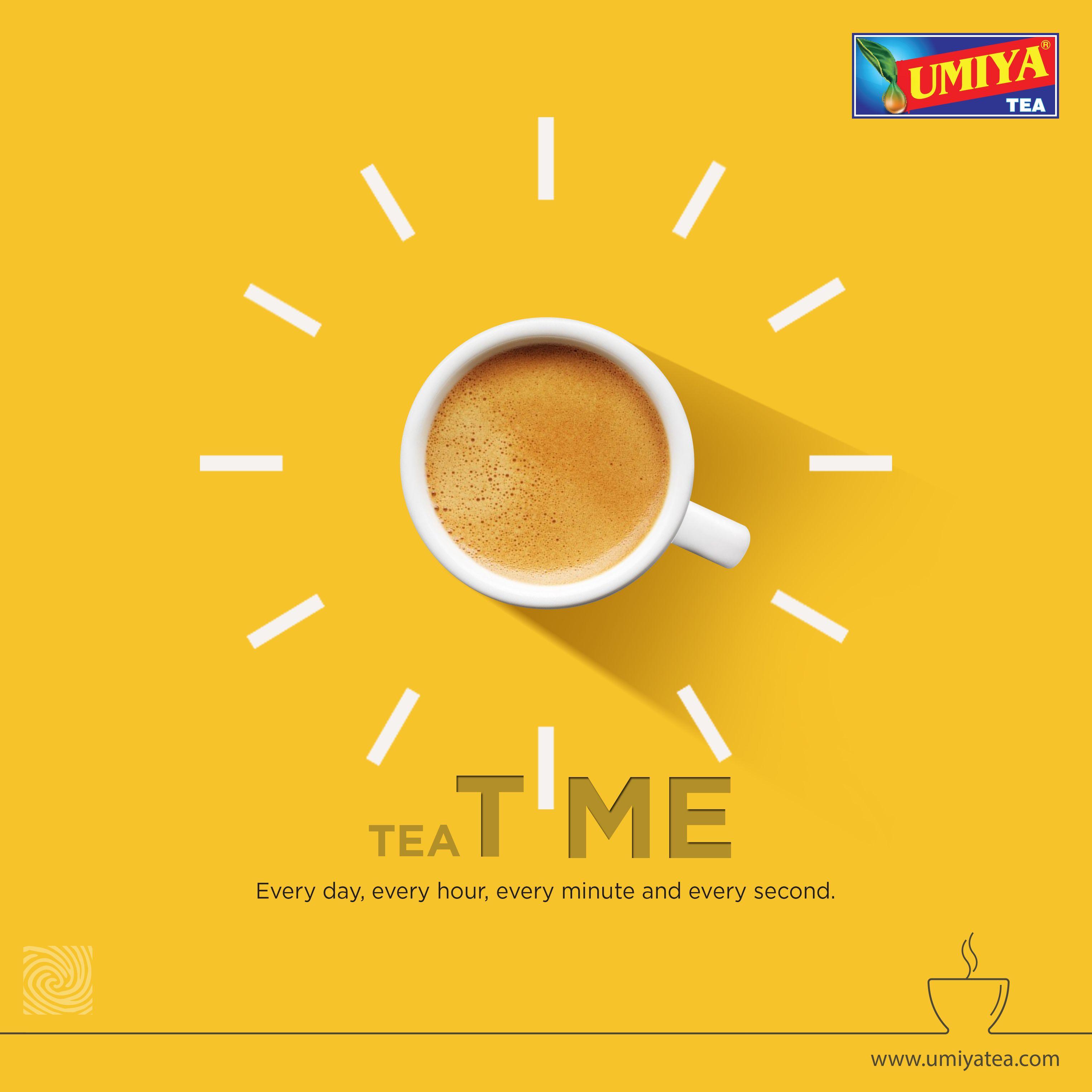 Tea Time Every day, every hour, every minute and every second #UmiyaTea #Umiya #Tea #Rajkot #moodmaker #cupoftea #Idea #TeaTime