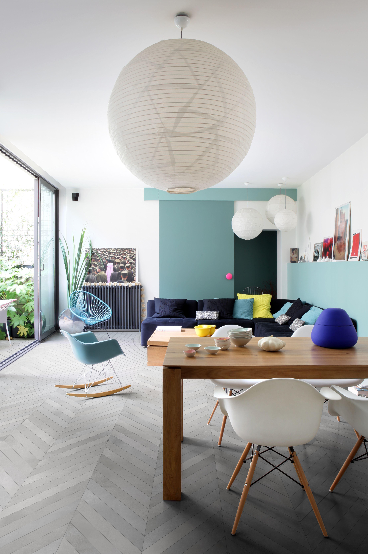 Kalanruoto-lattia amb terra fumo chevron ABL-Laatat | Livingroom ...