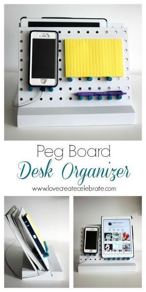 peg board desk organizer, crafts, how to, organizing