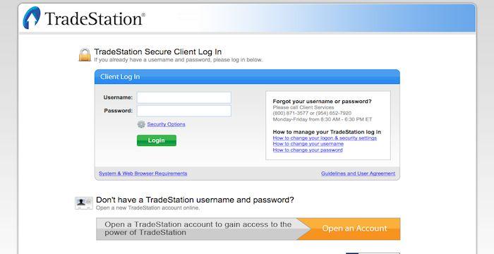 TradeStation Login - Login to TradeStation.com   Login, Online web, Online  trading