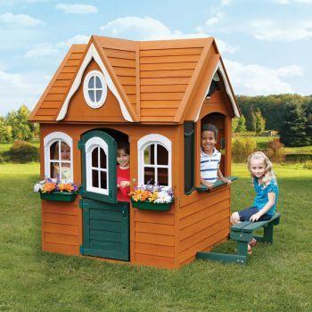 Купить игровой домик для детей из дерева «Цветочный Домик» со скидкой  - купить домик Solowave Design для детей