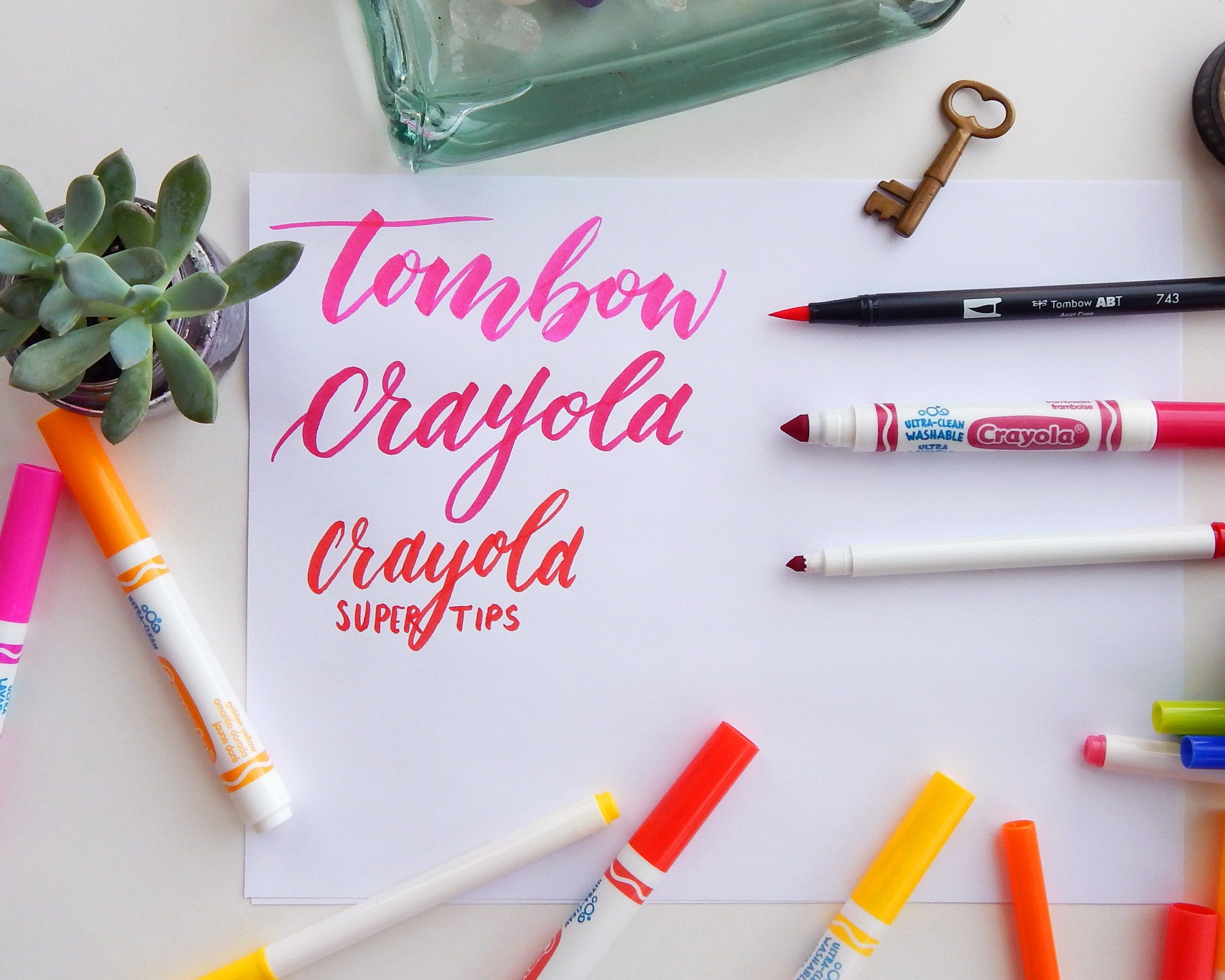 How To Do Crayola Calligraphy Letter With What You Have