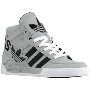 sale retailer 54714 6b3fd adidas Originals Hard Court Hi Big Logo - Sport Inspired - Shoes - Aluminum  Black White