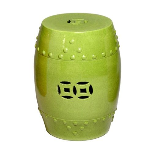 Perfect Very Pretty Prosperity Ceramic Garden Stool Lime Green. Free Shipping!